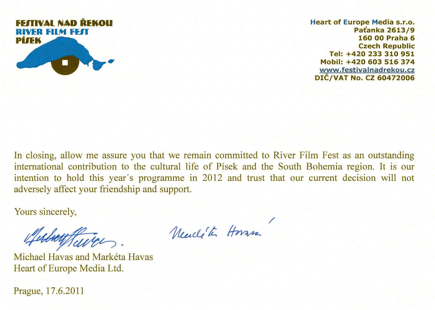 River Film Fest 2010 News
